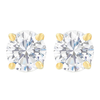 1 CT. T.W. White Diamond 14K Gold 4.9mm Round Stud Earrings