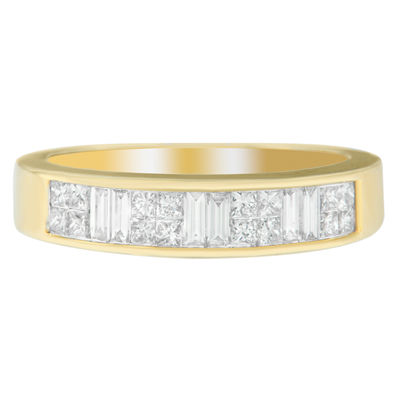 Womens 1 CT. T.W. White Diamond 14K Gold Wedding Band