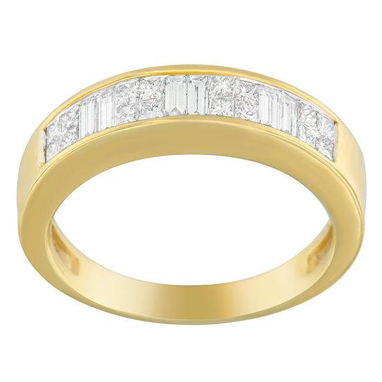 Womens 2.5MM 1 CT. T.W. Genuine White Diamond 14K Gold Wedding Band