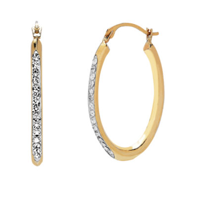 14K Gold 25.3mm Oval Hoop Earrings