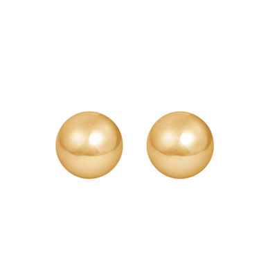 14K Gold 8mm Stud Earrings