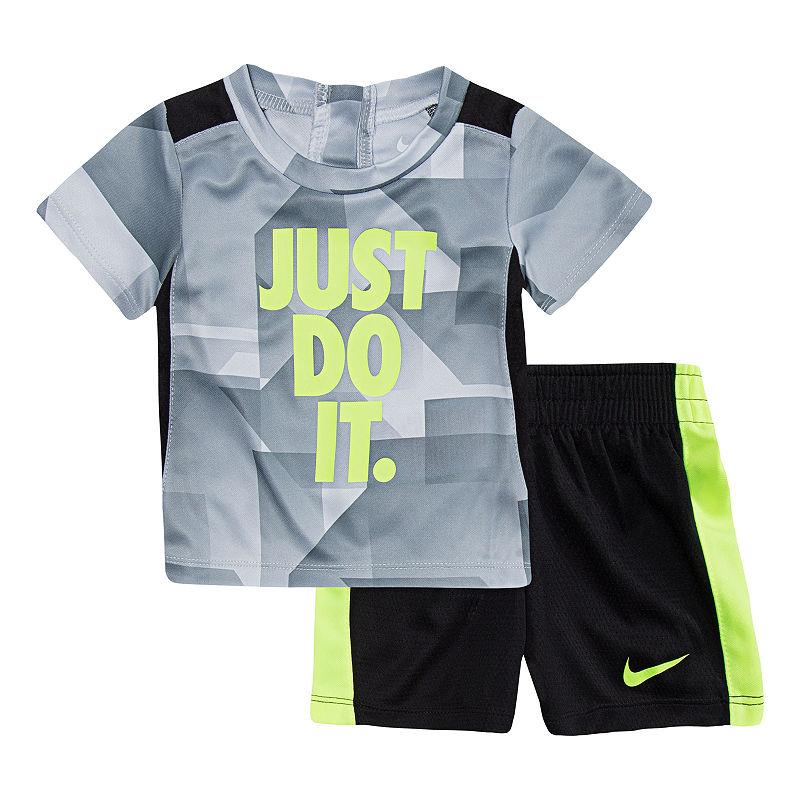 Nike 2-pack Short Set Baby, Boys, Pure Platinum, Size 24 Months