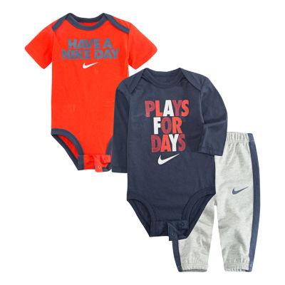 Nike 3-pc. Bodysuit Pant Set Baby Boys