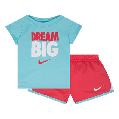 Nike 2-pc. Short Set Baby Girls
