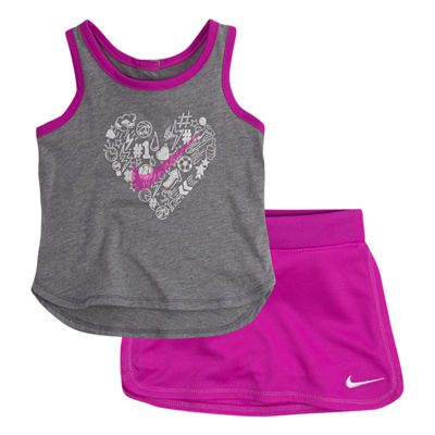 Nike 2-pc. Skort Set Baby Girls