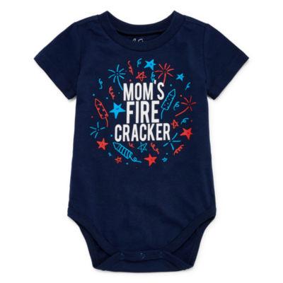 "City Streets ""Mom's Firecracker"" Short Sleeve Bodysuit - Baby NB-24M"