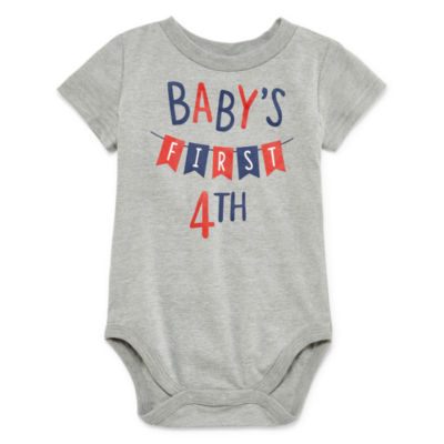 "City Streets ""Baby's First 4th of July"" Short Sleeve Bodysuit - Baby NB-24M"