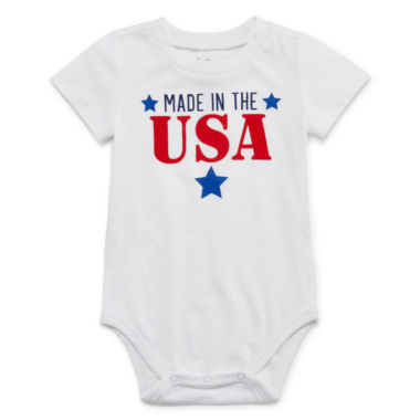 "City Streets ""Made in the USA"" Short Sleeve Bodysuit - Baby NB-24M"