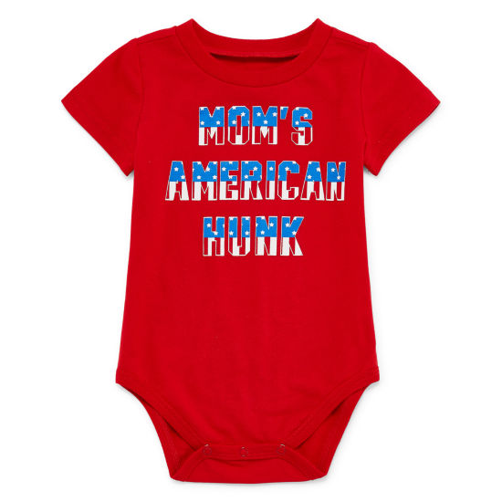 "City Streets ""Mom's American Hunk"" Short Sleeve Bodysuit - Baby Boy NB-24M"