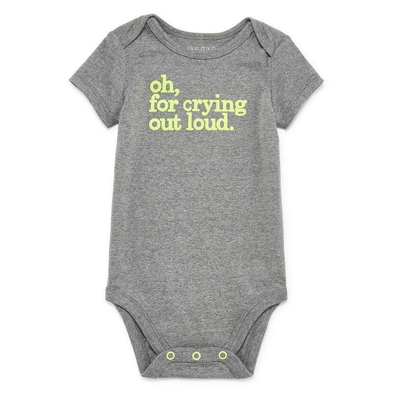 Okie Dokie Bodysuit, Boys, Charcoal Gray, Size 24 Months