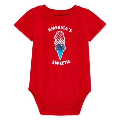 "City Streets ""America's Sweetie"" Short Sleeve Bodysuit - Baby NB-24M"