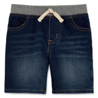 Okie Dokie Mid Length Denim Shorts-Toddler Boys