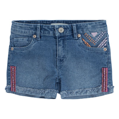 Levi's Embroidered Shorty Shorts - Big Kid Girls