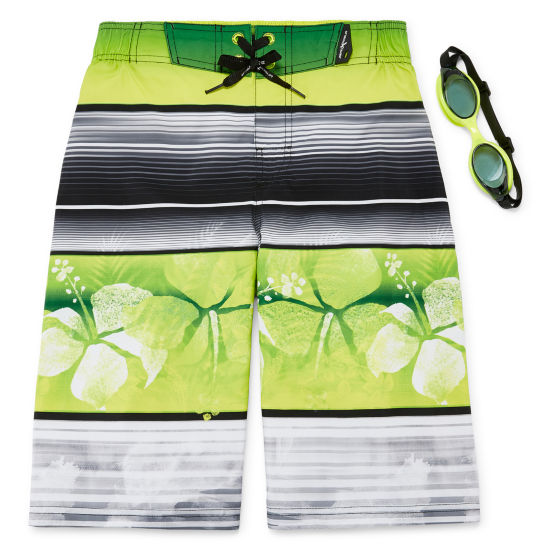 Zeroxposur Hawaiian Print Swim Trunks - Boys 4-20