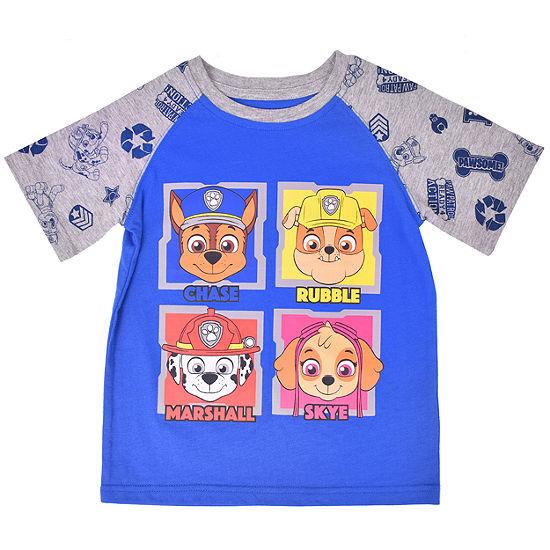 Boys Crew Neck Short Sleeve Paw Patrol Graphic T-Shirt-Toddler