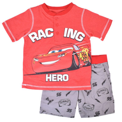 Disney 2-pc. Cars Short Set Toddler Boys
