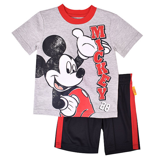 Disney Boys 2-pc. Mickey Mouse Short Set Toddler