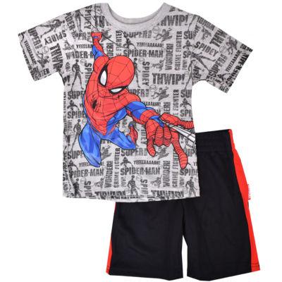 2-pc. Spiderman Short Set Toddler Boys