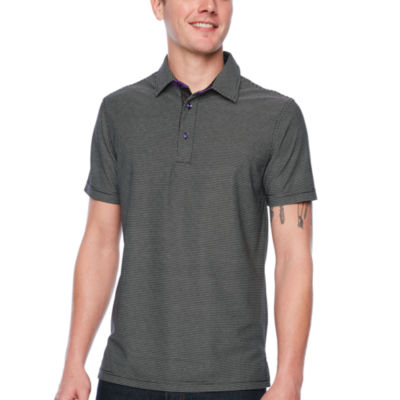 Society Of Threads Short Sleeve Pattern Pique Polo Shirt