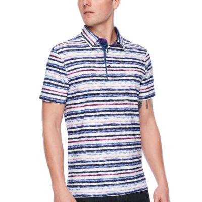 Society Of Threads Short Sleeve Stripe Pique Polo Shirt