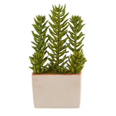 17 Succulent Artificial Plant With Decorative Planter