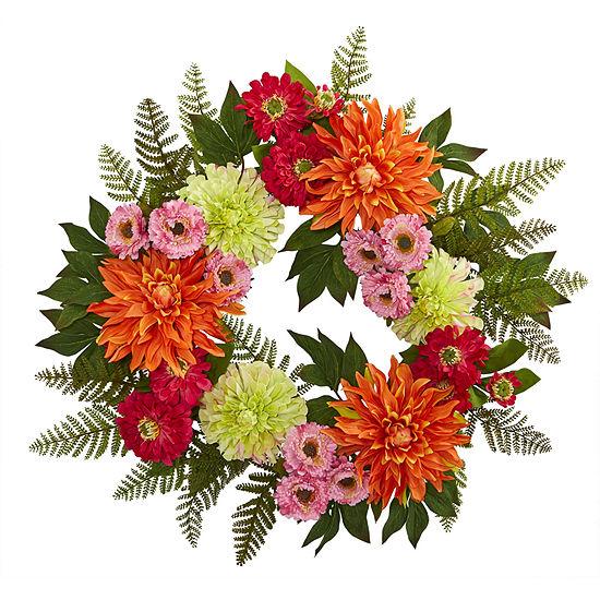 """20"""" Dahlia Wreath"""