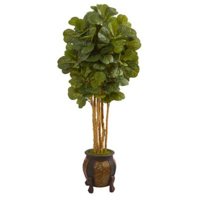 5.5' Fiddle Leaf Artificial Tree in Decorative Planter