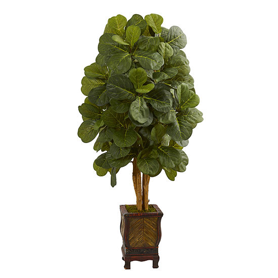 4.5' Fiddle Leaf Artificial Tree in Decorative Planter