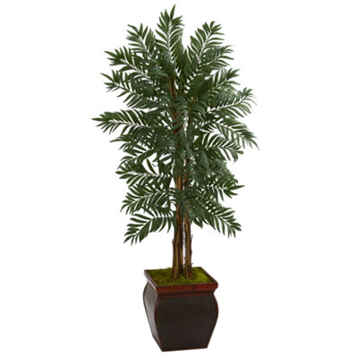 5' Parlor Palm Artificial Tree in Decorative Planter