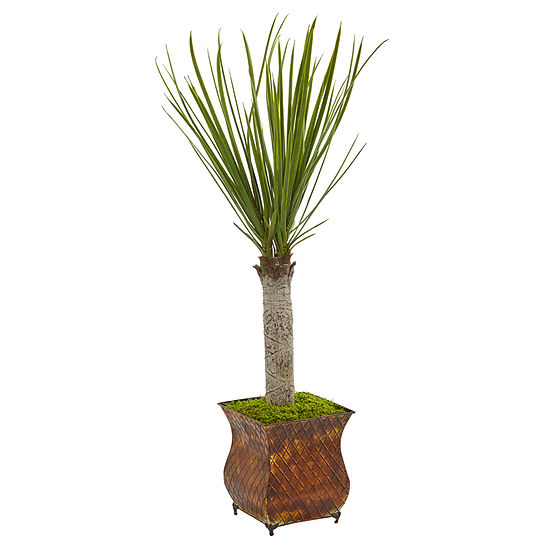 40 Yucca Artificial Tree in Metal Planter