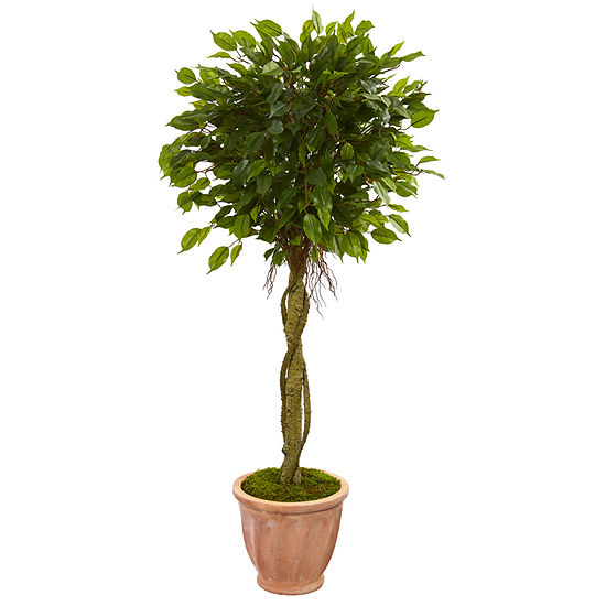 45 Ficus Artificial Tree In Terracotta Planteruv Resistant Indoor Outdoor
