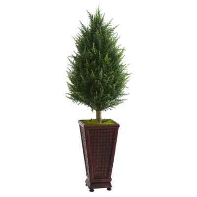 4' Cypress Cone Artificial Tree in Decorative Planter