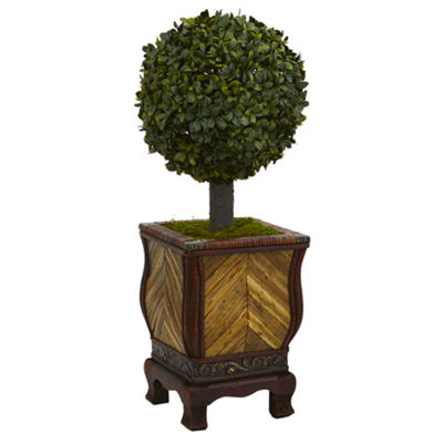 27 Boxwood Ball Topiary Artificial Tree in Decorative Planter