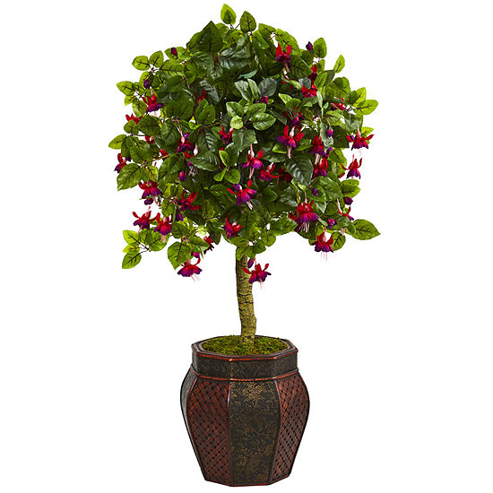 44 Fuchsia Artificial Tree in Decorative Planter