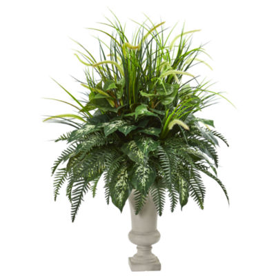 42 Mixed Greens Artificial Plant in Urn