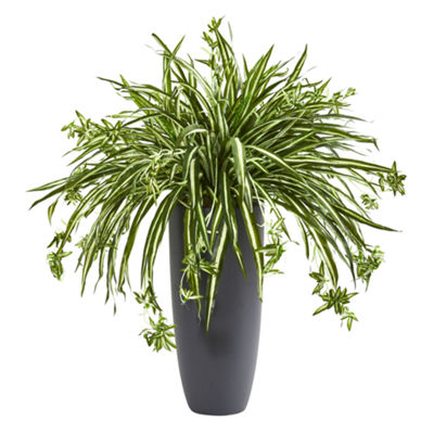 33'' Spider Artificial Plant in Cylinder Planter
