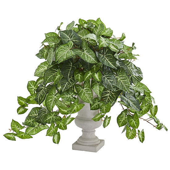 Nephthytis Artificial Plant in Gray Urn