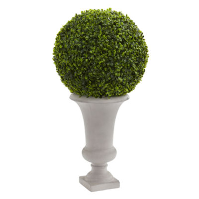 28 Boxwood Ball Topiary Artificial Plant in Urn (Indoor/Outdoor)