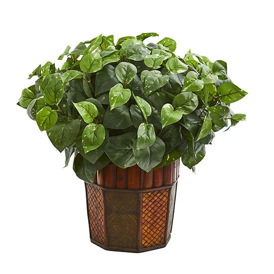 Pothos Artificial Plant In Decorative Planter