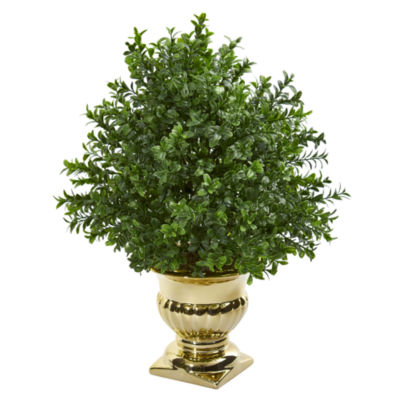 Sweet Grass Artificial Plant in Gold Urn