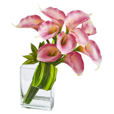 20'' Calla Lily & Succulent Bouquet Artificial Arrangement