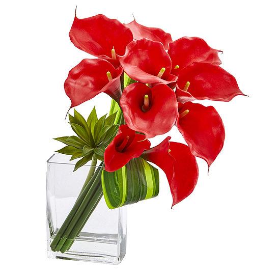 20'' Calla Lily & Succulent Bouquet Artificial Arrangement