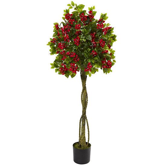5 Bougainvillea Artificial Topiary Tree
