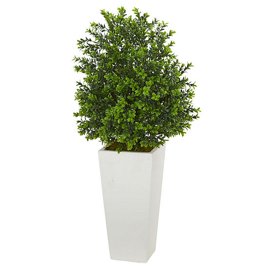 Sweet Grass Artificial Plant in White Tower Planter (Indoor/Outdoor)