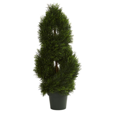 Double Pond Cypress Spiral Artificial Topiary TreeUV Resistant (Indoor/Outdoor)