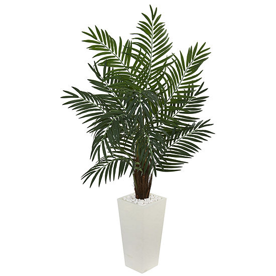 55 Areca Artificial Palm Tree In White Tower Planter