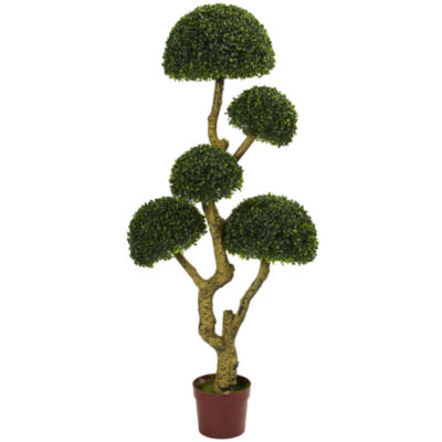 5' Five Head Boxwood Artificial Tree; UV Resistant(Indoor/Outdoor)