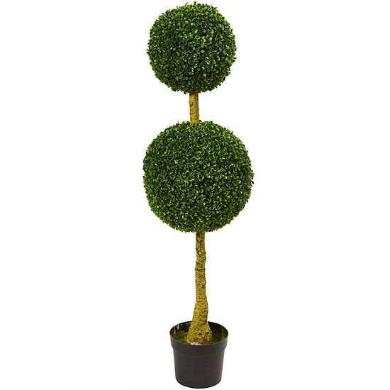 4.5' Double Topiary Boxwood Artificial Tree; UVResistant (Indoor/Outdoor)