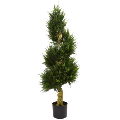 4.5' Spiral Cypress Artificial Tree; UV Resistant(Indoor/Outdoor)