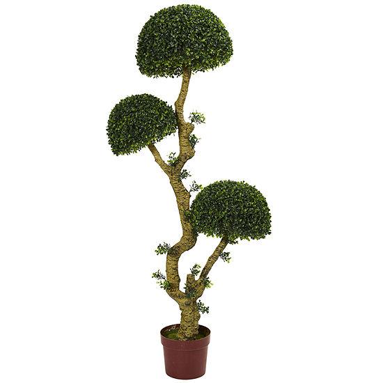 5' Triple Boxwood Artificial Tree; UV Resistant(Indoor/Outdoor)